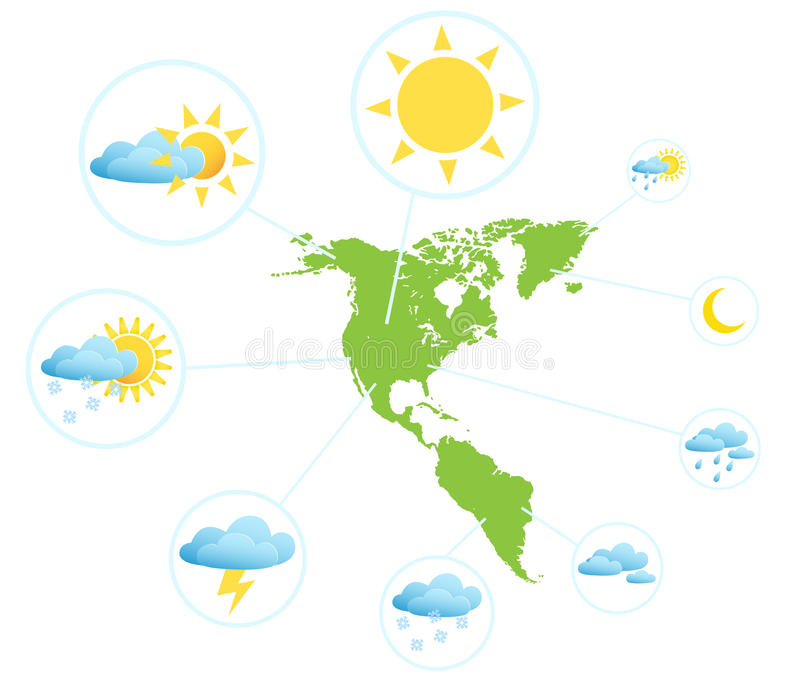 Väderprognos Infographic stock illustrationer
