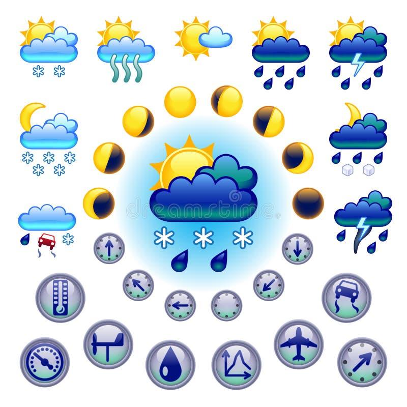 Download Vädersymboler vektor illustrationer. Illustration av regn - 27286477
