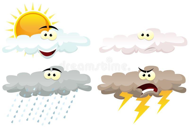 Vädersymbolstecken stock illustrationer