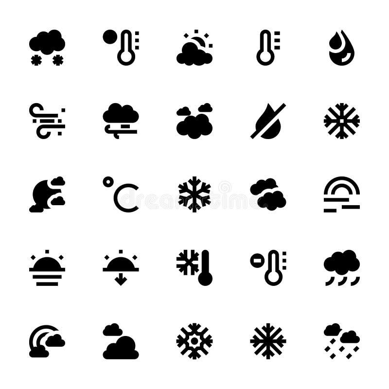 Vädervektorsymboler 2 stock illustrationer