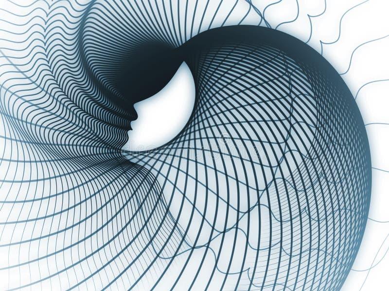 Väg av andageometri stock illustrationer