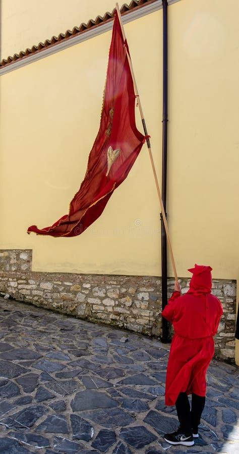 Väg av korset i en sydlig italiensk stad arkivbild