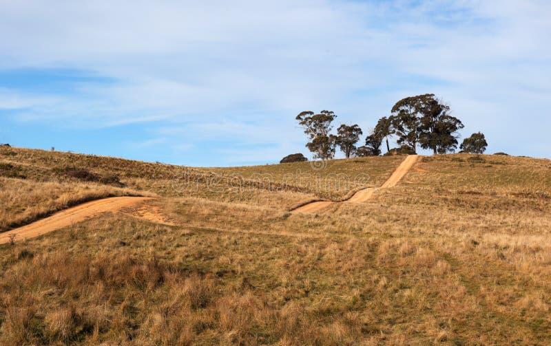väg för oberon för Australien land bergig near royaltyfri fotografi