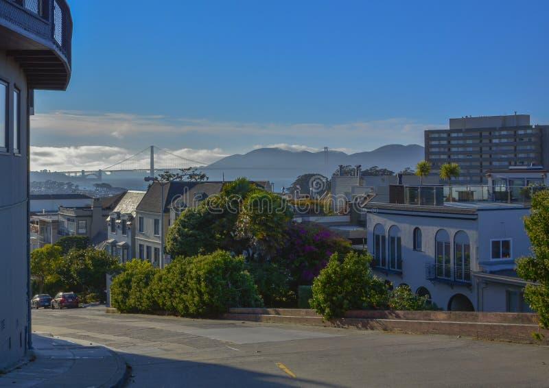 Väg för spårvagn för San Francisco stad järnväg fotografering för bildbyråer