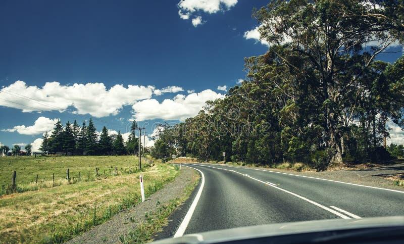 Väg i Queensland, Australien royaltyfri fotografi