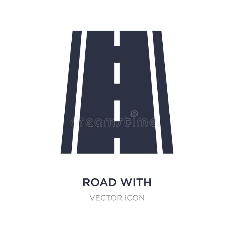 väg med brutna linjer symbol på vit bakgrund Enkel beståndsdelillustration från transportbegrepp stock illustrationer