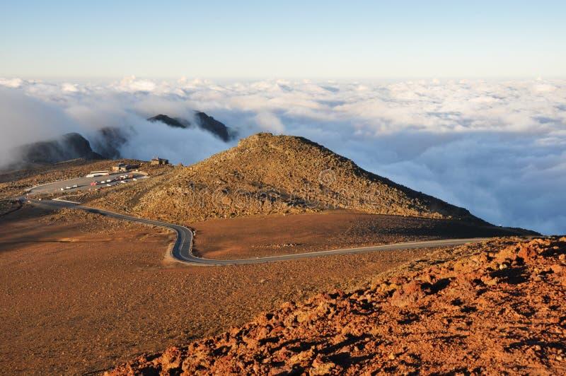 Väg på den Haleakala nationalparken, Maui (USA) arkivfoton