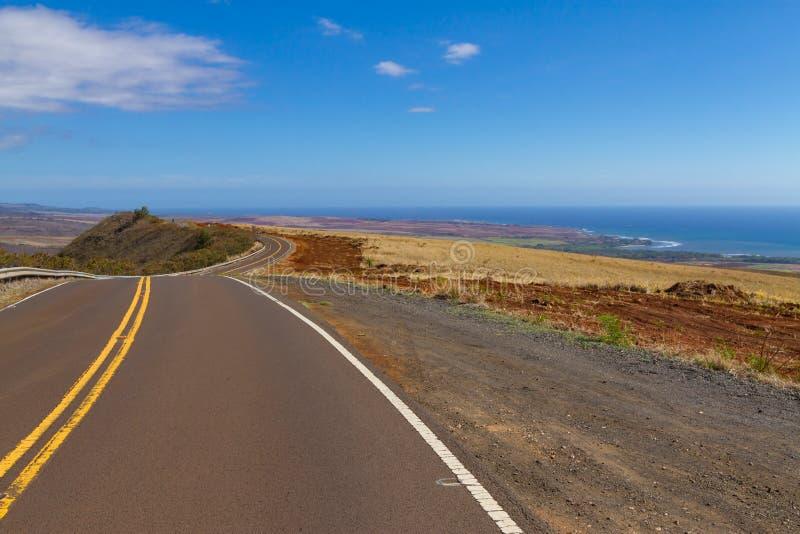 Väg som snubblar på ön av Maui royaltyfri fotografi