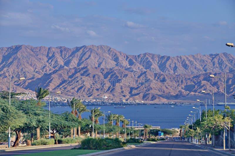 Väg till Eilat royaltyfria foton