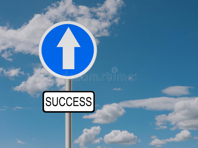 Väg till framgång - affärsidé royaltyfri bild