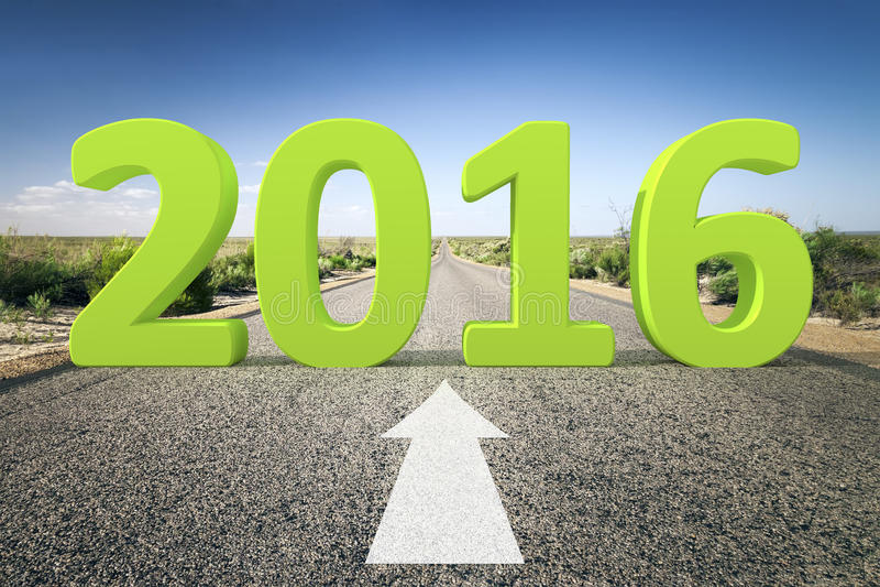 Väg till horisonten 2016 stock illustrationer