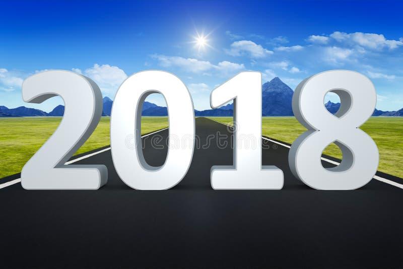 väg till horisonten 2018 royaltyfri illustrationer