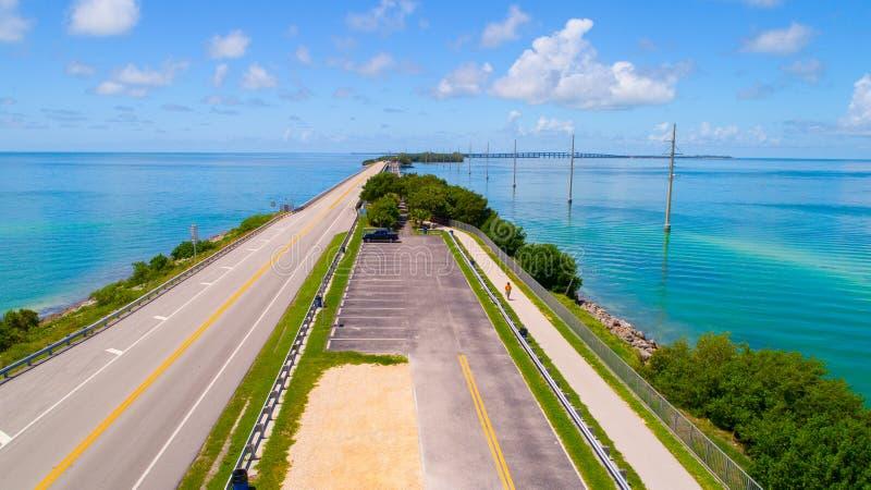 Väg till Key West över hav och öar, Florida tangenter, USA arkivfoton