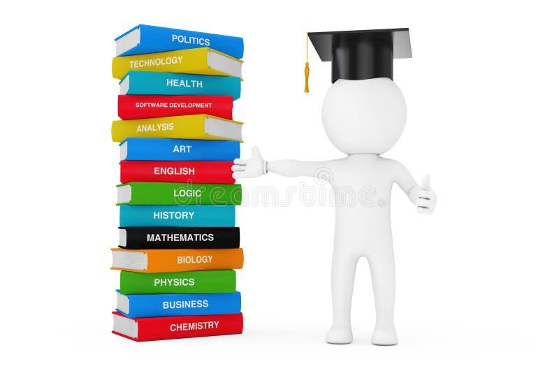 Väg till kunskap, utbildning och det läs- begreppet Person i en Gra royaltyfri illustrationer