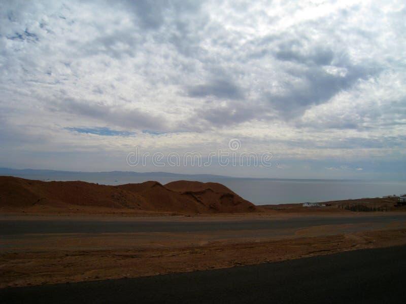 Väg till Sharm el Sheikh, Egypten, södra Sinai arkivbild