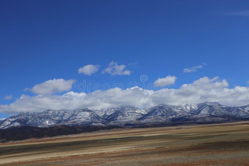 Väg till Zion Canyons! Utah arkivbilder