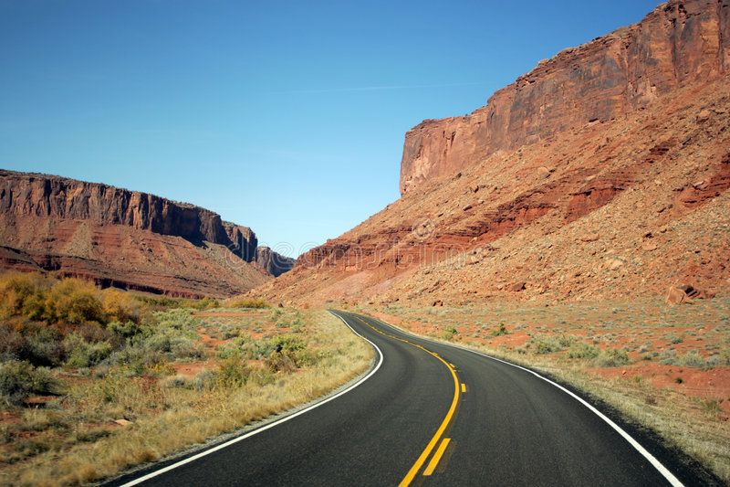 väg USA arkivbild