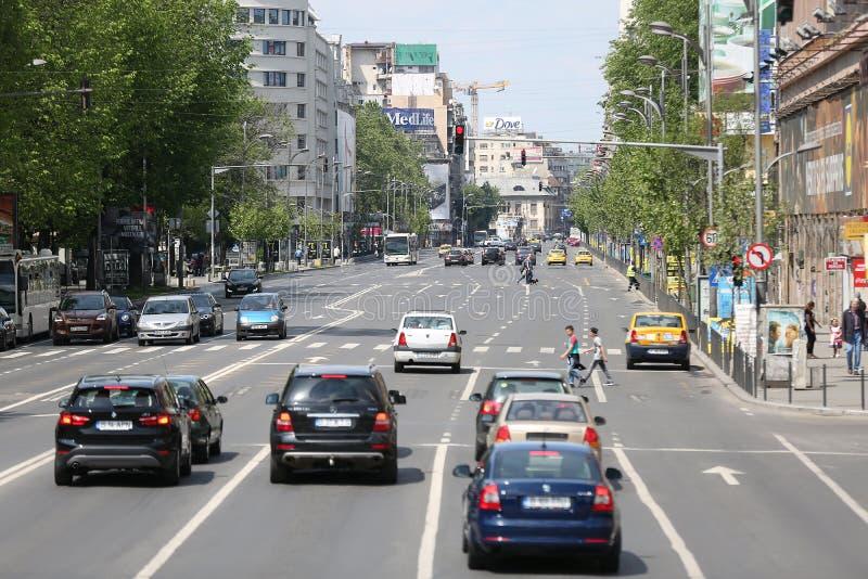 Vägar i Bucharest royaltyfri foto