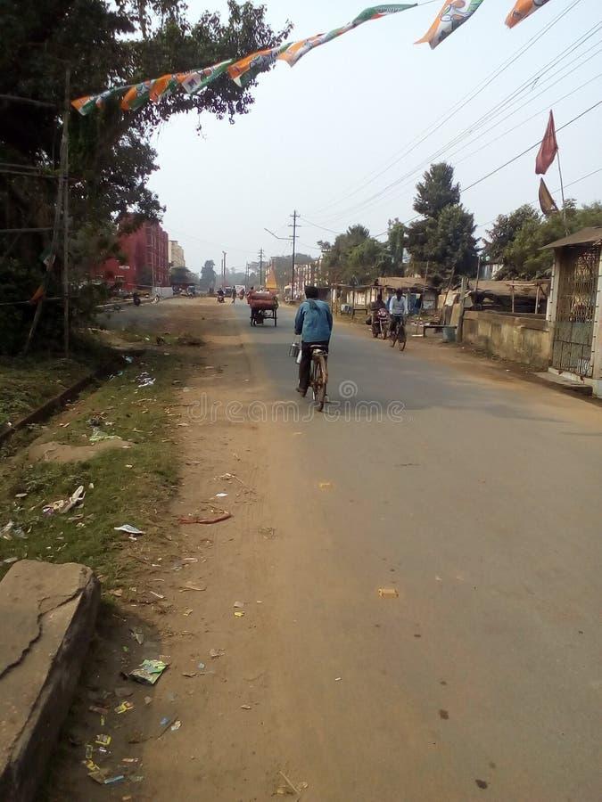Vägar i Kharagpur West Midnapore West Bengal India arkivfoton