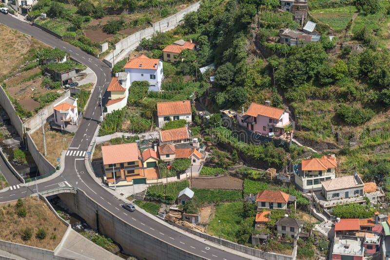 Vägen Madeira Gorge i Portugal fotografering för bildbyråer