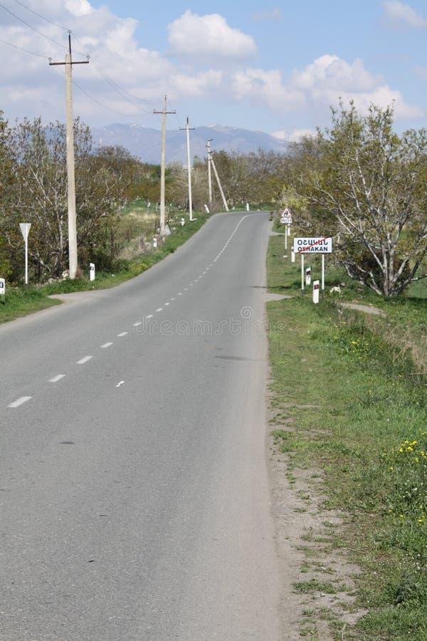 Vägen till byn p 42 arkivfoton