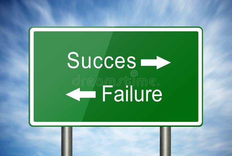 Vägen till framgång eller fel royaltyfri foto