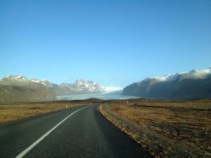 Vägen till glaciären arkivfoton
