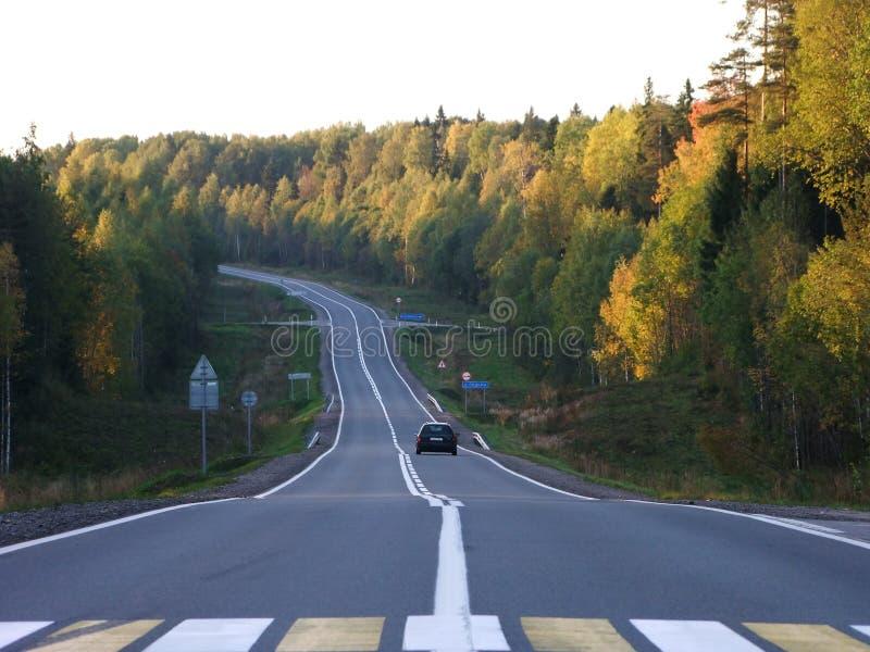 Vägen till norden arkivbilder