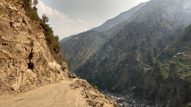 Vägen tillhör chamba royaltyfri fotografi