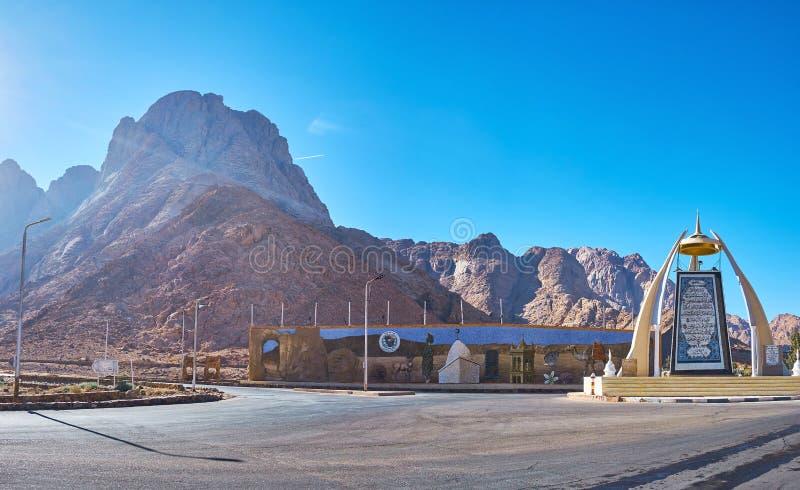 Vägföreningspunkten i den Sinai öknen, Dahab, Egypten royaltyfria foton