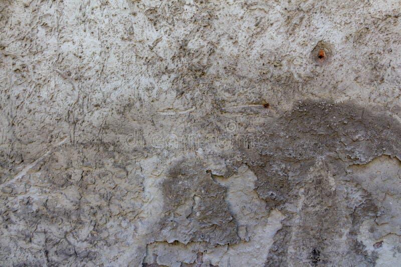 Vägg av betong och tegelsten med murbruktextur royaltyfria foton