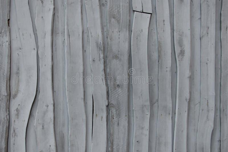 Vägg av gamla gråa abstrakta bräden royaltyfri foto