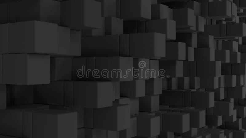 Vägg av gråa kuber vektor illustrationer