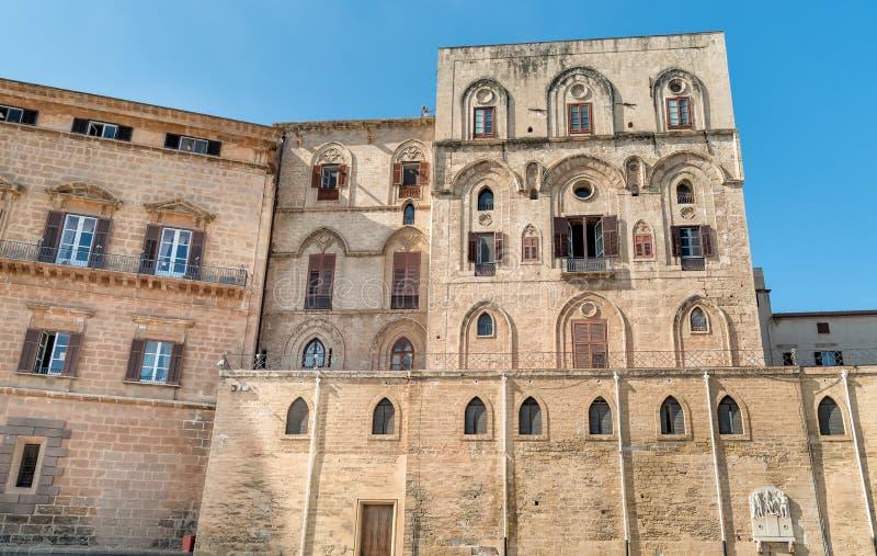 Vägg av Norman Royal Palace i Palermo, Sicilien royaltyfri bild