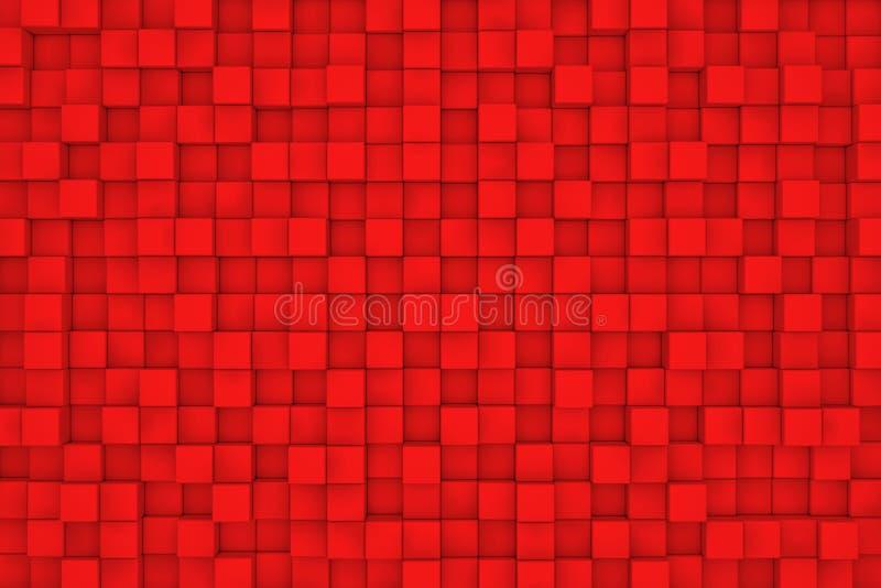 Vägg av röda kuber royaltyfri illustrationer