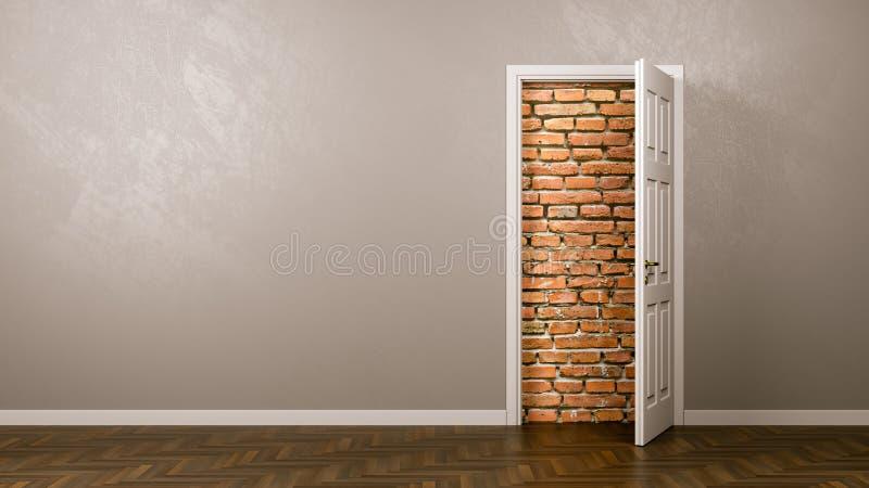 Vägg bak dörren royaltyfri illustrationer