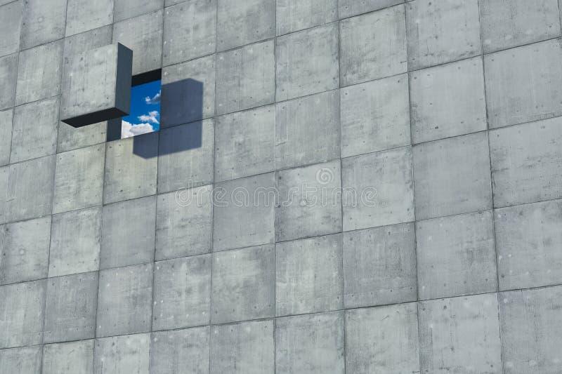 vägg för begreppsfrihetshål royaltyfri fotografi