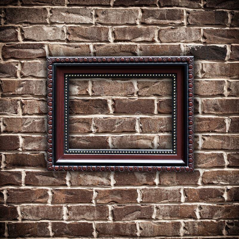 vägg för bild för tegelstenramgrunge arkivbilder