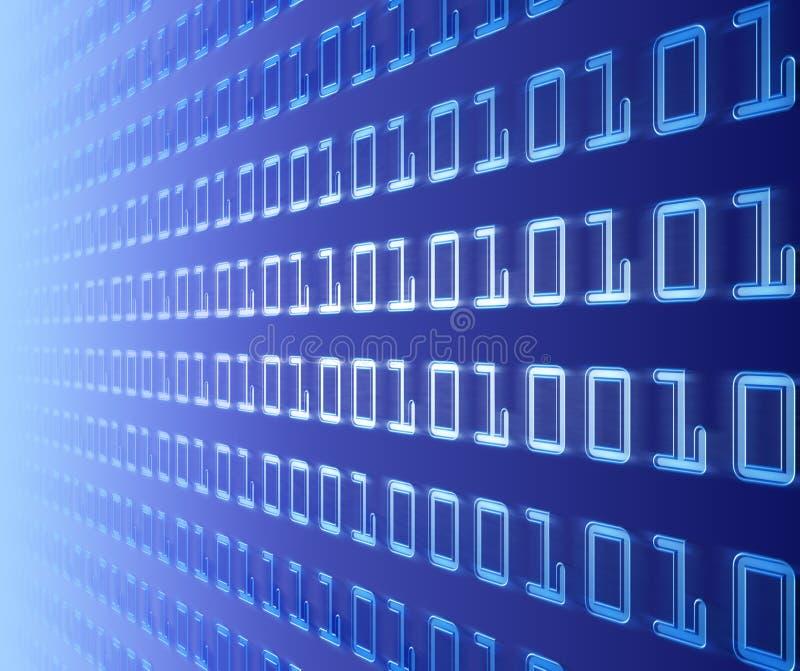 vägg för binär kod royaltyfri illustrationer