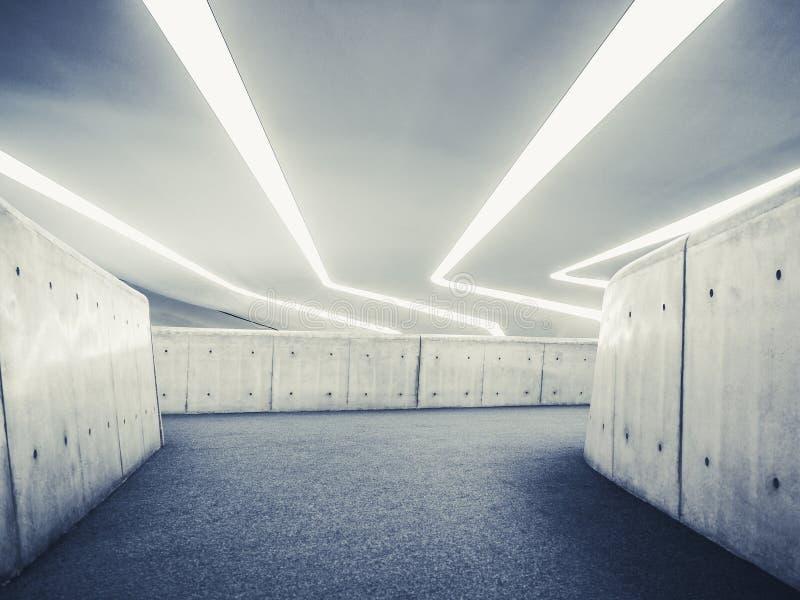 Vägg för cement för perspektiv för arkitekturdetaljer modern inre arkivbild