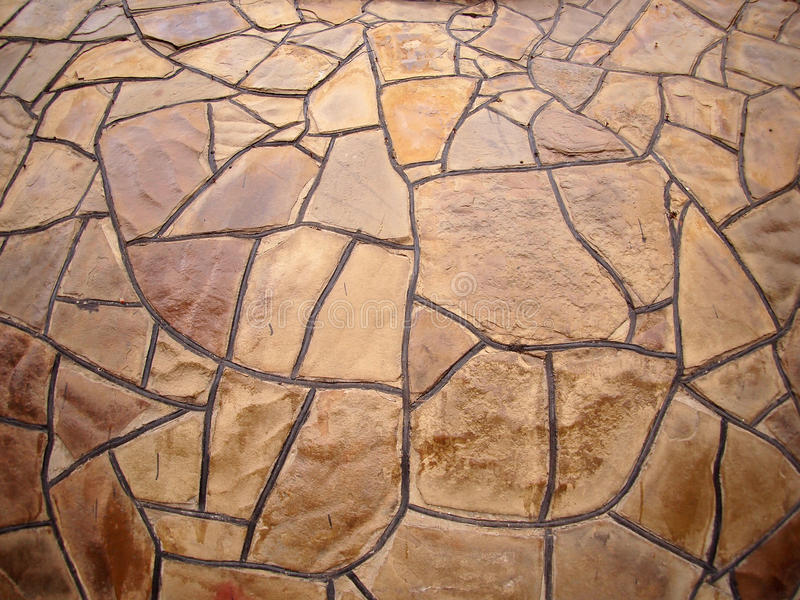 Vägg för dekorativ sten med bred vinkelfisheyesikt arkivbilder