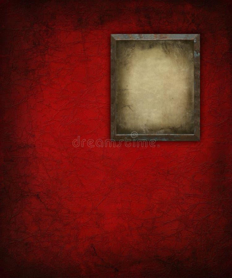 vägg för red för ramgrungebild royaltyfri illustrationer
