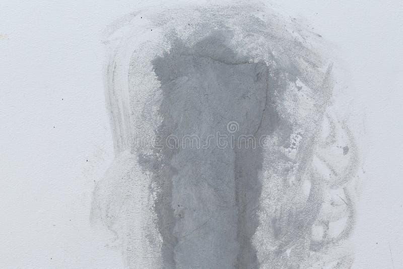 Vägg för reparationscementmortel arkivbild