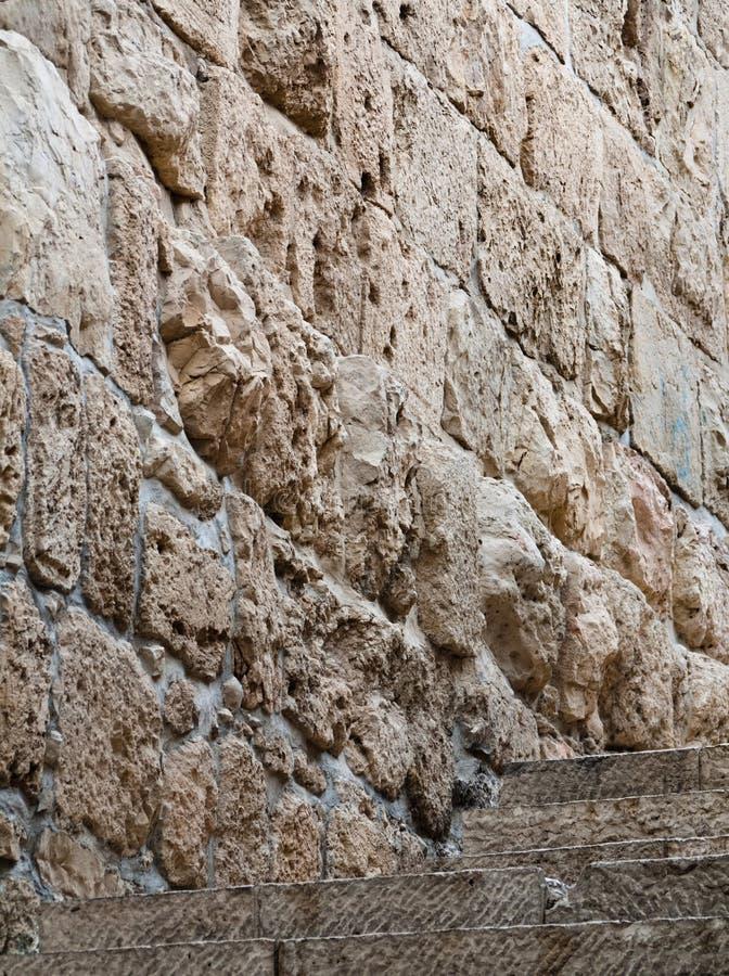 vägg för stadsjerusalem gammal s trappa royaltyfria foton