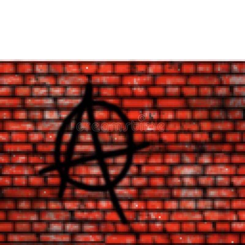 Vägg för tegelsten för bit för PIXEL 8 utdragen högväxt med grafittiavsnittet stock illustrationer