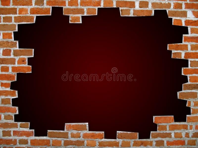 vägg för tegelstenclippingbana royaltyfri illustrationer