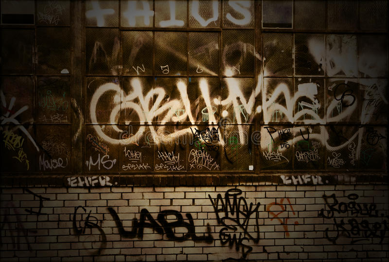 vägg för textur för grunge för bakgrundstegelstengrafitti royaltyfri fotografi