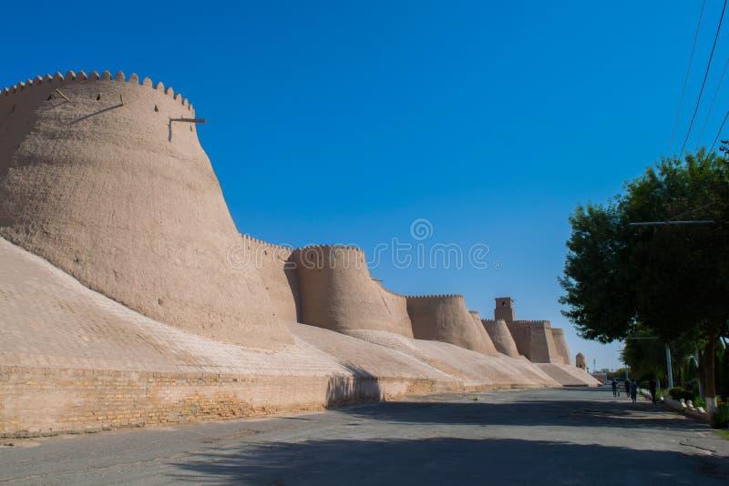 Vägg i Uzbekistan arkivbild