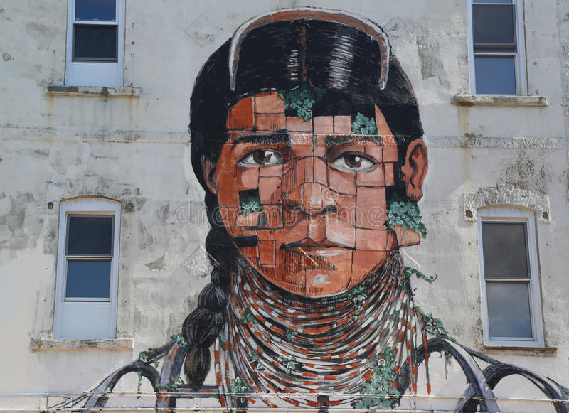 Vägg- konst in på östliga Williamsburg i Brooklyn royaltyfri fotografi