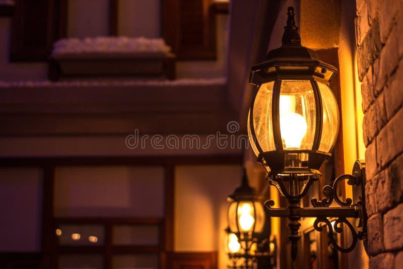 Vägg monterad ljus lampa arkivbild